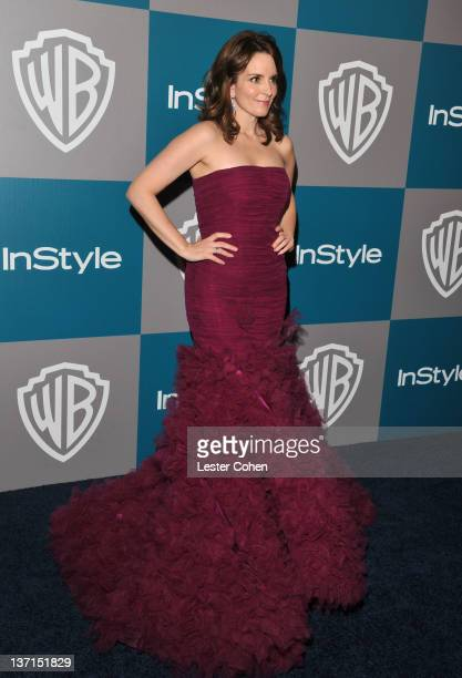 Actress Tina Fey arrives at the 13th Annual Warner Bros. And InStyle Golden Globe After Party held at The Beverly Hilton hotel on January 15, 2012 in...