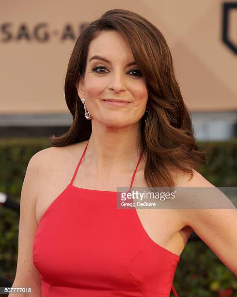 Actress Tina Fey arrives at the 22nd Annual Screen Actors Guild Awards at The Shrine Auditorium on January 30 2016 in Los Angeles California