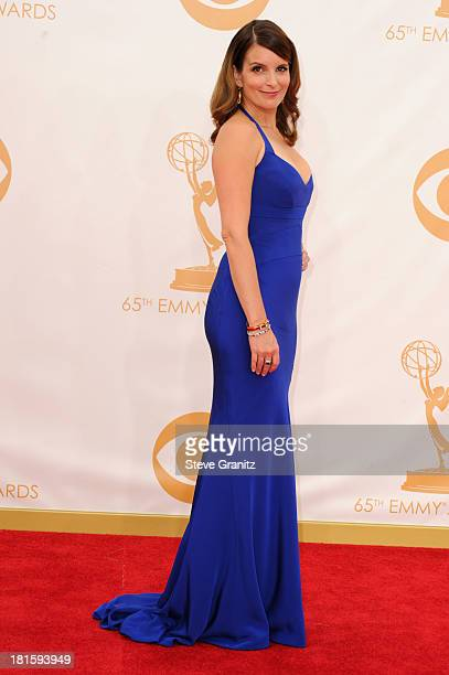 Actress Tina Fey arrives at the 65th Annual Primetime Emmy Awards held at Nokia Theatre LA Live on September 22 2013 in Los Angeles California