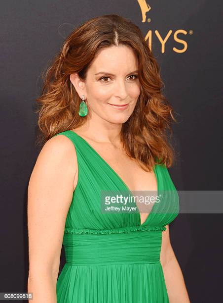 Actress Tina Fey arrives at the 68th Annual Primetime Emmy Awards at Microsoft Theater on September 18 2016 in Los Angeles California