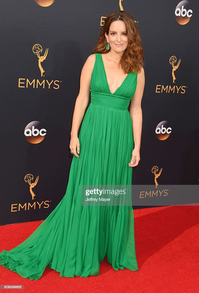 Actress Tina Fey arrives at the 68th Annual Primetime Emmy Awards at Microsoft Theater on September 18, 2016 in Los Angeles, California.
