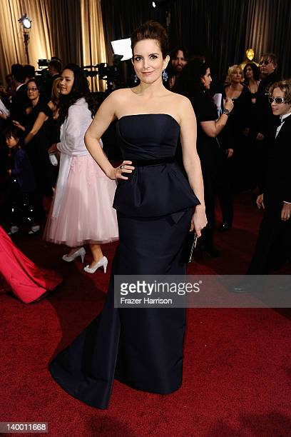 Actress Tina Fey arrives at the 84th Annual Academy Awards held at the Hollywood Highland Center on February 26 2012 in Hollywood California