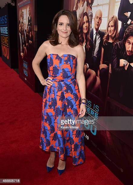 Actress Tina Fey arrives at the premiere of Warner Bros Pictures' This Is Where I Leave You at TCL Chinese Theatre on September 15 2014 in Hollywood...