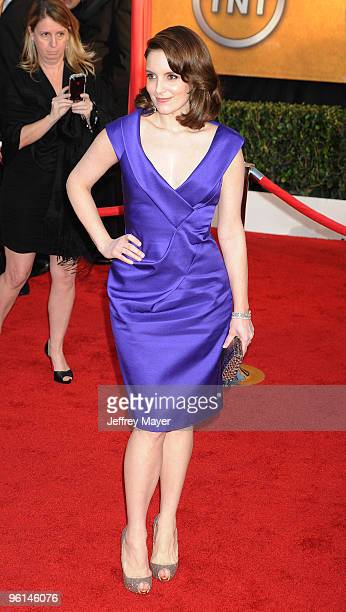 Actress Tina Fey attends the 16th Annual Screen Actors Guild Awards at The Shrine Auditorium on January 23 2010 in Los Angeles California