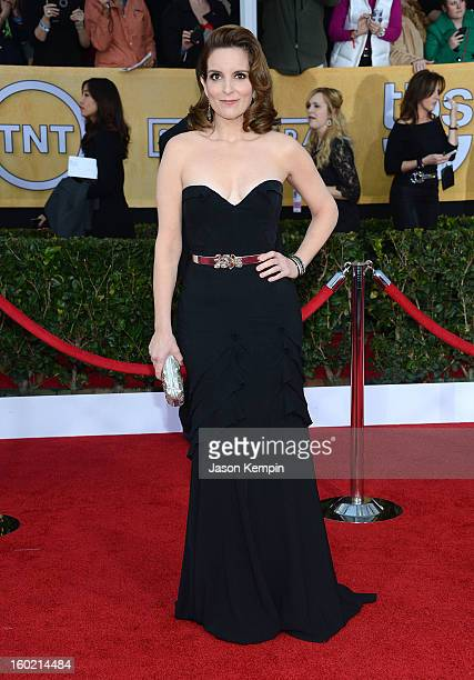 Actress Tina Fey attends the 19th Annual Screen Actors Guild Awards at The Shrine Auditorium on January 27 2013 in Los Angeles California