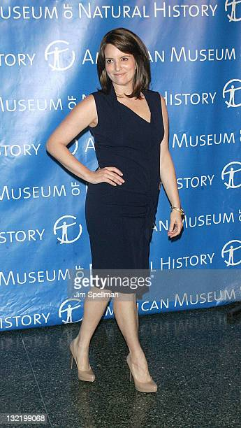 Actress Tina Fey attends the 2011 American Museum of Natural History gala at the American Museum of Natural History on November 10 2011 in New York...