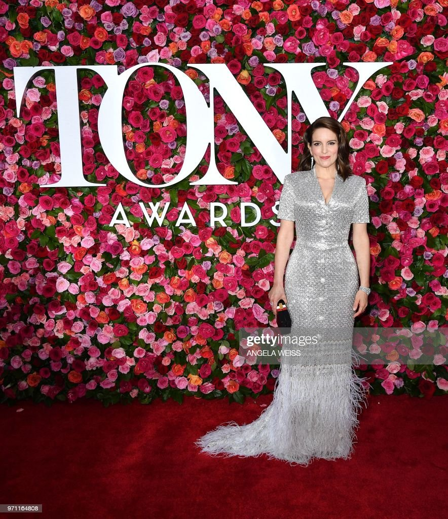 US actress Tina Fey attends the 2018 Tony Awards - Red Carpet at Radio City Music Hall in New York City on June 10, 2018.