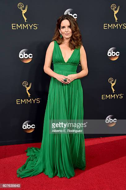 Actress Tina Fey attends the 68th Annual Primetime Emmy Awards at Microsoft Theater on September 18 2016 in Los Angeles California