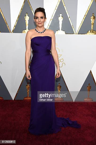 Actress Tina Fey attends the 88th Annual Academy Awards at Hollywood Highland Center on February 28 2016 in Hollywood California