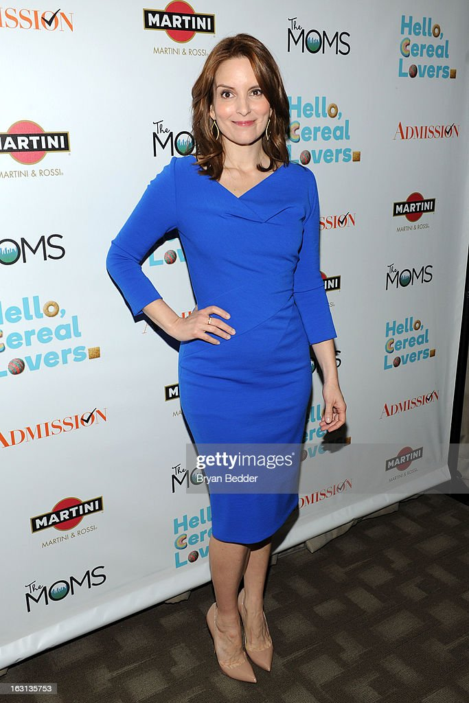 Actress Tina Fey attends the Moms and MARTINI celebrate Tina Fey and the release of her new film, 'Admission' at Disney Screening Room on March 5, 2013 in New York City.