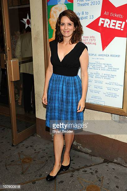 Actress Tina Fey attends the opening night of We The People America Rocks at Lucille Lortel Theatre on July 14 2010 in New York City