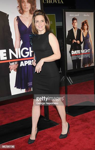 Actress Tina Fey attends the premiere of 'Date Night' at Ziegfeld Theatre on April 6 2010 in New York City