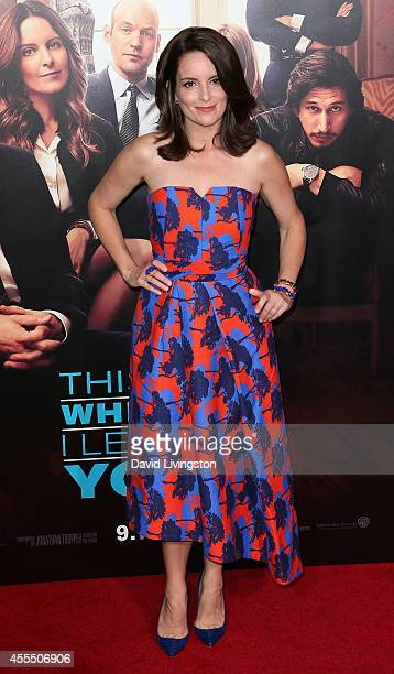 Actress Tina Fey attends the premiere of Warner Bros Pictures' 'This Is Where I Leave You' at the TCL Chinese Theatre on September 15 2014 in...