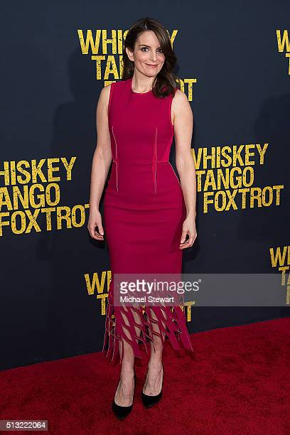 Actress Tina Fey attends the 'Whiskey Tango Foxtrot' World Premiere at AMC Loews Lincoln Square 13 theater on March 1 2016 in New York City