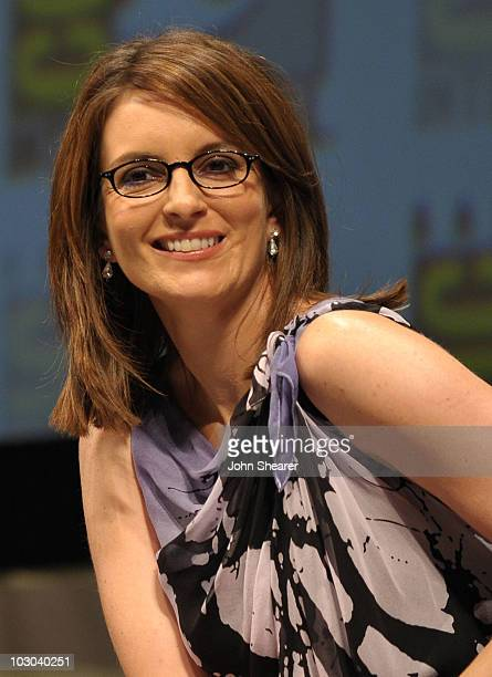 """Actress Tina Fey speaks at the """"Megamind"""" panel during Comic-Con 2010 at San Diego Convention Center on July 22, 2010 in San Diego, California."""