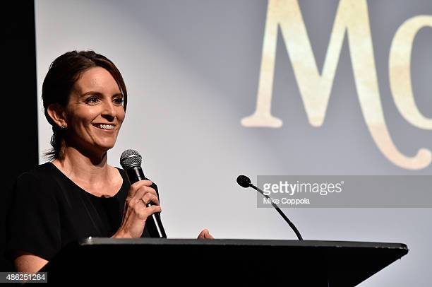 Actress Tina Fey speaks onstage at Disneynature's Monkey Kingdom special screening celebrating the film's September15th Bluray / Digital HD release...