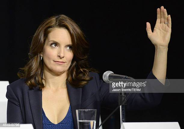 Actress Tina Fey speaks onstage at 'This Is Where I Leave You' Press Conference during the 2014 Toronto International Film Festival at TIFF Bell...