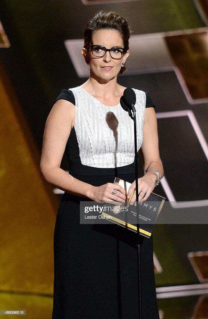 Actress Tina Fey speaks onstage during the 67th Annual Primetime Emmy Awards at Microsoft Theater on September 20, 2015 in Los Angeles, California.
