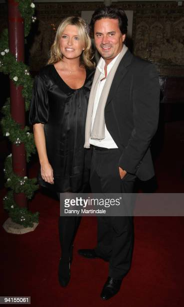 Actress Tina Hobley and her husband Oli Wheeler attend the Breast Cancer Haven Christmas Carol Service on December 8 2009 in London England
