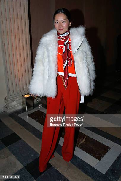Actress Tina Leung attends the Sonia Rykiel show as part of the Paris Fashion Week Womenswear Fall/Winter 2016/2017 on March 7 2016 in Paris France
