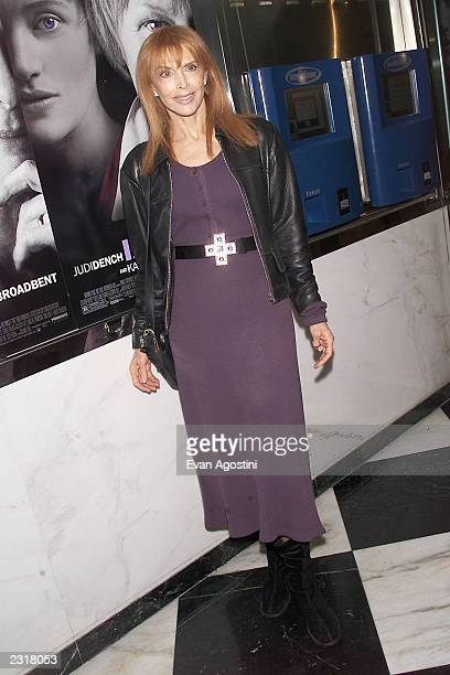 Actress Tina Louise arriving at the world film premiere of Miramax's 'Iris' at the Paris Theatre in New York City 12/2/2001 Photo Evan...