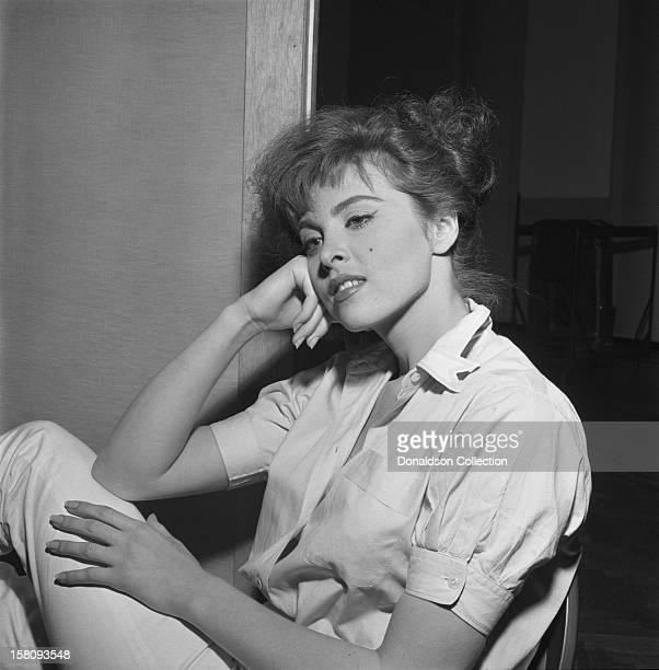 Actress Tina Louise poses for a portrait on July 19 1957 in New York City New York