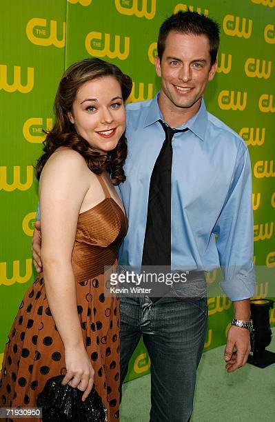 Actress Tina Majorino and actor Michael Muhney arrive at the CW Launch Party at the Warner Bros Studio on September 18 2006 in Burbank California
