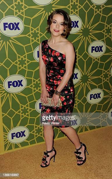 Actress Tina Majorino arrives at Fox's AllStar Party at Castle Green on January 8 2012 in Pasadena California