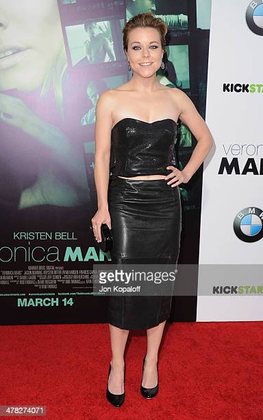 """Actress Tina Majorino arrives at the Los Angeles premiere """"Veronica Mars"""" at TCL Chinese Theatre on March 12, 2014 in Hollywood, California."""