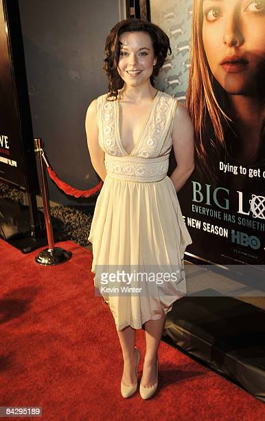 Actress Tina Majorino arrives at the premiere of HBO's Big Love 3rd season at the Cinerama Dome on January 14 2009 in Los Angeles California