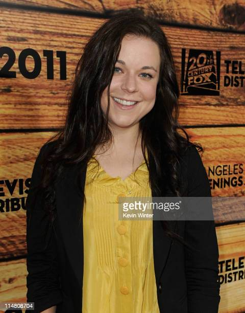 Actress Tina Majorino attends a starstudded party hosted by Twentieth Century Fox Television Distribution at the Fox Lot on May 26 2011 in Century...