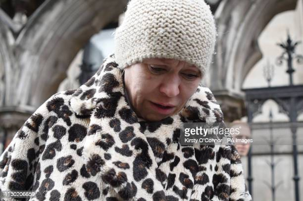 Actress Tina Malone leaves the High Court in London where she avoided jail after she admitted breaching an injunction protecting the identity of...