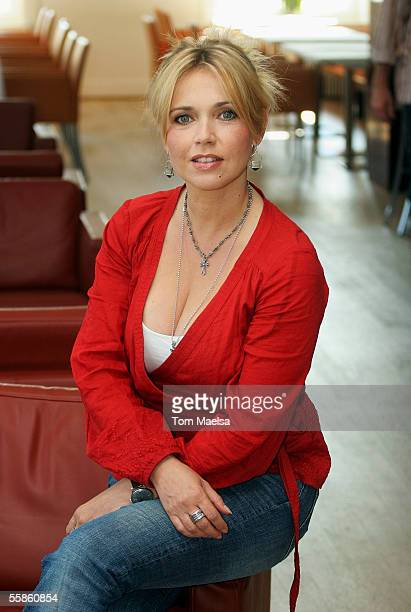 Actress Tina Ruland poses on at a photocall for 'UFA Fall TV Highlights' on October 6 2005 in Berlin Germany