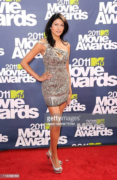 Actress Tinsel Korey arrives at the 2011 MTV Movie Awards at Universal Studios' Gibson Amphitheatre on June 5 2011 in Universal City California