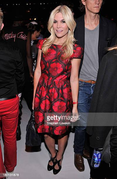 Actress Tinsley Mortimer attends the Carolina Herrera fashion show during MercedesBenz Fashion Week Spring 2014 at The Theatre at Lincoln Center on...