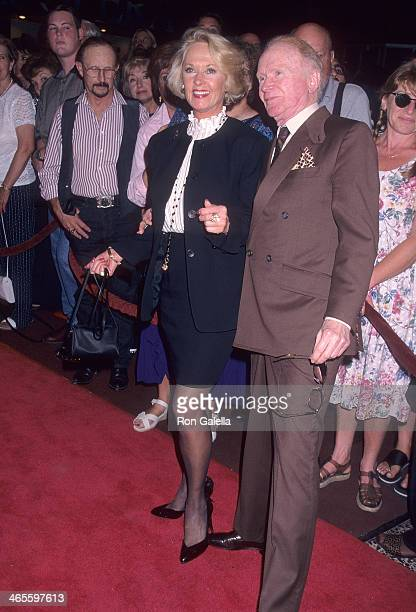 Actress Tippi Hedren and actor Red Buttons attend Liza Minnelli in Concert on July 31 1997 at the Pantages Theatre in Hollywood California