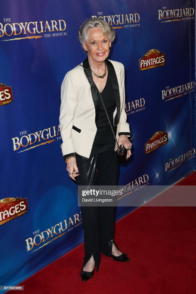 Actress Tippi Hedren arrives at the premiere of 'The Bodyguard' at the Pantages Theatre on May 2, 2017 in Hollywood, California.