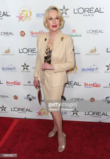 Actress Tippi Hedren arrives to the Hollywood Walk of Fame's 50th Anniversary Celebration on November 3 2010 in Hollywood California