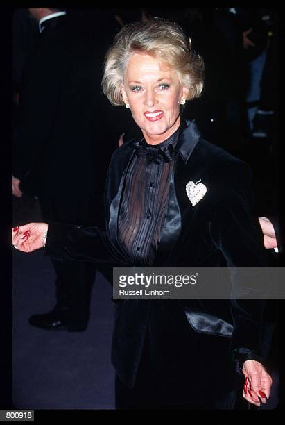 Actress Tippi Hedren attends Elizabeth Taylor's 65th birthday party February 16 1997 in Los Angeles CA Twotime Academy Award winner Taylor is a...