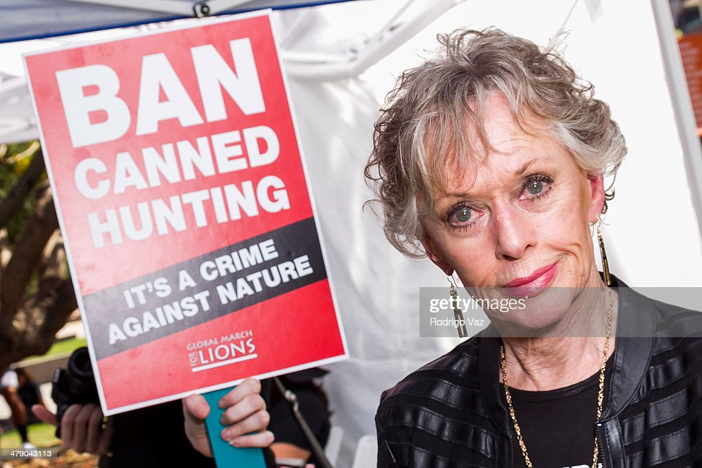 Tippi Hedren At The Global March For Lions To Ban Canned Hunting