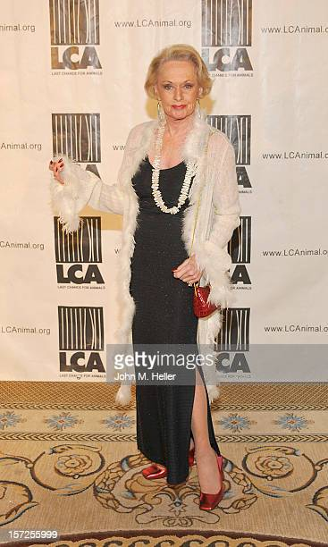Actress Tippi Hedren attends The Last Chance For Animals Benefit Honoring John Paul DeJoria With The Albert Schweitzer Award at Casa Del Mar on...