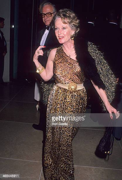 Actress Tippi Hedren attends the Seventh Annual American Cinema Awards on January 27 1990 at the Beverly Hilton Hotel in Beverly Hills California