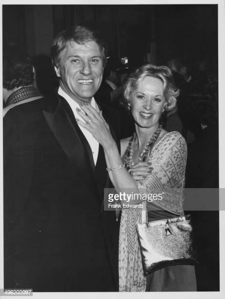 Actress Tippi Hedren with her husband Noel Marshall attending the Directors Guild of America Awards Beverly Hill Hilton California March 14th 1981