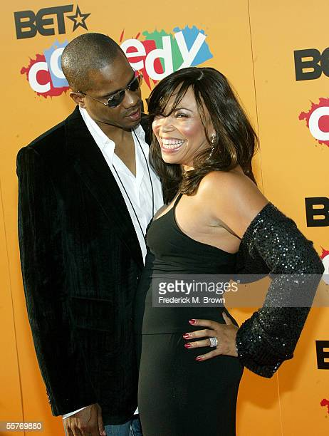 Actress Tisha Campbell and husband Duane Martin arrive at the 2005 BET Comedy Icon Awards at the Pasadena Civic Auditorium on September 25 2005 in...