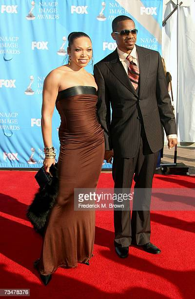 Actress Tisha Campbell and husband Duane Martin arrive at the 38th annual NAACP Image Awards held at the Shrine Auditorium on March 2 2007 in Los...