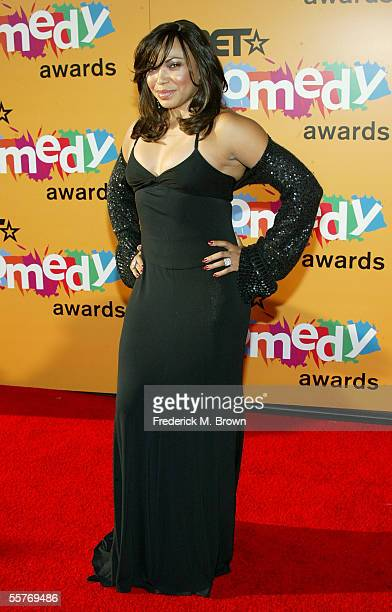 Actress Tisha Campbell arrives at the 2005 BET Comedy Icon Awards at the Pasadena Civic Auditorium on September 25 2005 in Pasadena California