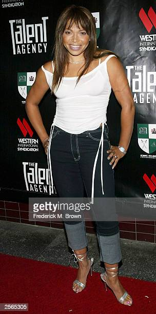 Actress Tisha Campbell attends the Alex Thomas and Eva Longoria birthday party and launch of the new television show 'The Talent Agency' at The...