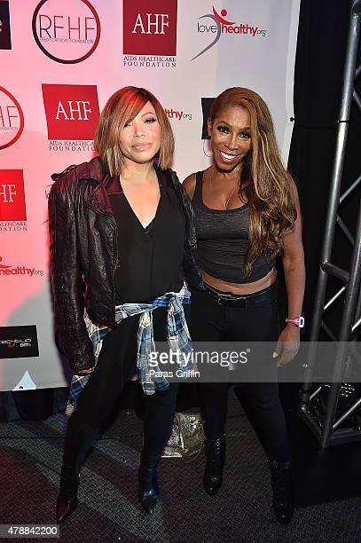 Actress Tisha CampbellMartin and actress AJ Johnson attend 2015 BET Experience at the Los Angeles Convention Center on June 27 2015 in Los Angeles...