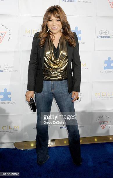 Actress Tisha CampbellMartin arrives at the Autism Speaks 'Blue Tie Blue Jean Ball' at The Beverly Hilton Hotel on November 29 2012 in Beverly Hills...