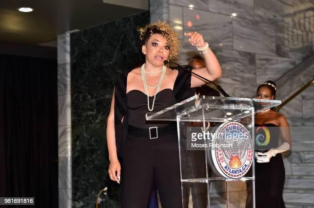 Actress Tisha CampbellMartin attend Vision Community Foundation 7th Annual Vision Community Foundation BlackTie Gala at Atlanta City Hall on June 22...